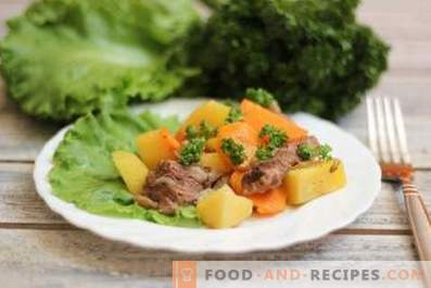 Lamb stewed with vegetables