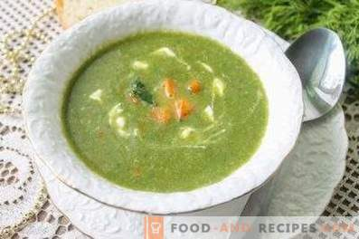 Spinach puree soup