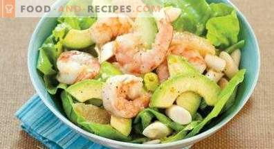 Avocado and shrimp salads