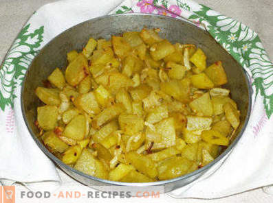 Картофи с лук във фурната