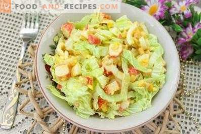 Salads with Peking Cabbage