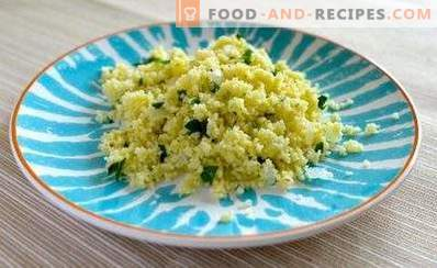 How to cook couscous as a garnish