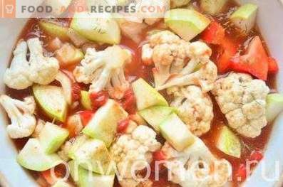 Vegetables Stewed in Tomato in the Oven