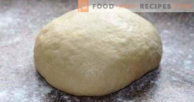 Dough for ravioli on mineral water