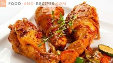 Chicken drumsticks baked in a slow cooker