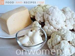 Cauliflower with cheese in the oven