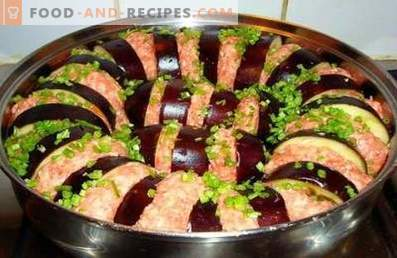 Eggplant with minced meat baked in the oven