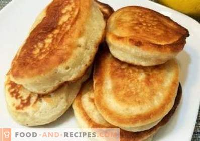 Fritters on milk without eggs