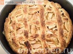 Pie with shortbread dough apples