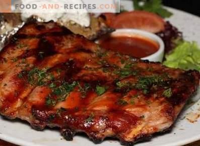 Pork ribs in a pan