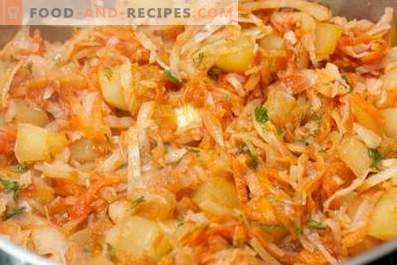Vegetable stew with cabbage and potatoes