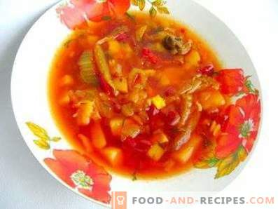 Borsch without frying