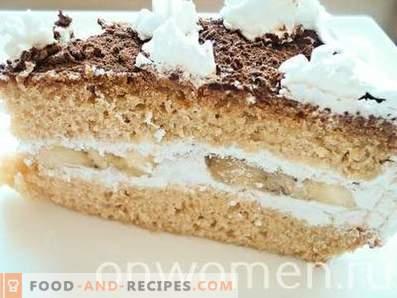 Banana Cake with Whipped Cream