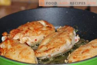 Chicken breast in a pan