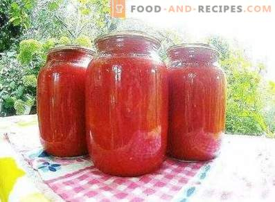 Tomatoes in their own juice for the winter