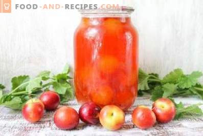 Cherry plum compote for winter