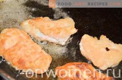 Chicken nuggets in kefir