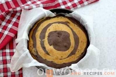 Zebra cake on sour cream