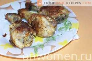 Chicken drumsticks roasted in a slow cooker