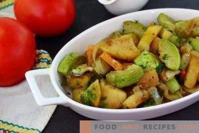 Zucchini stewed with potatoes