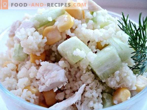 Salad with couscous and chicken