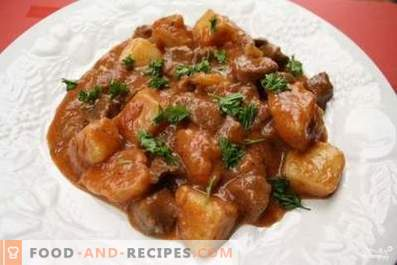 Pork stewed with gravy