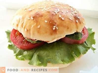 Hamburger with beef patty