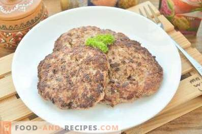 Cutlets for beef burgers