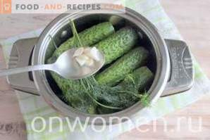 Salted cucumbers with ginger