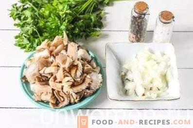 Frittata with mushrooms