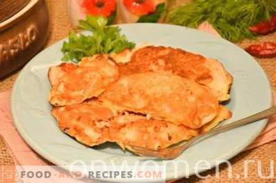 Chicken breast, fried in kefir batter