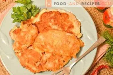Chicken breast, fried in kefir batter