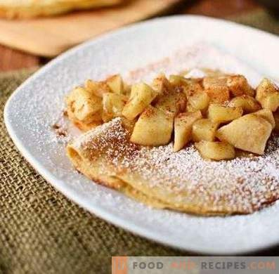 Stuffing for pancakes from apples