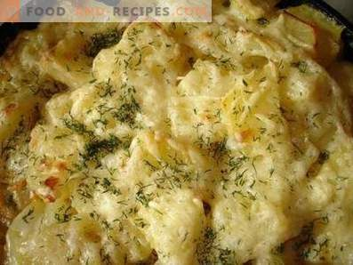 Potato baked with cheese in a slow cooker