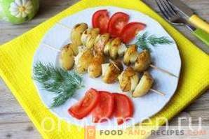Kebabs from potatoes in the oven