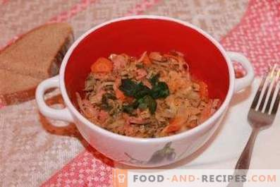 Cabbage stewed in a slow cooker