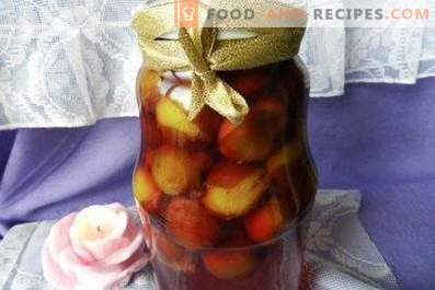 Marinated plum for the winter