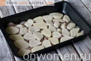 French chicken with potatoes in the oven