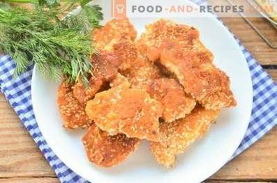 Chicken sticks in sesame
