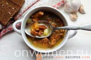 Soup with Chanterelles