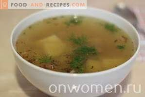 Potato soup with lamb in a slow cooker