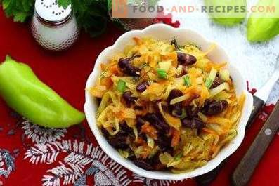 Cabbage stewed with beans