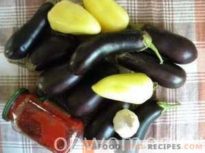 Eggplants in quick adjika