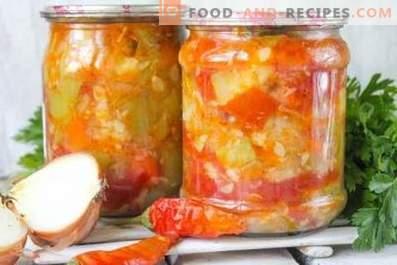 Saute zucchini for the winter