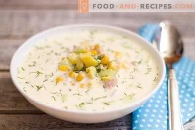 Okroshka on water with mayonnaise