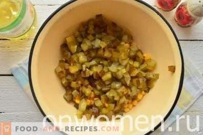 Vinaigrette with corn