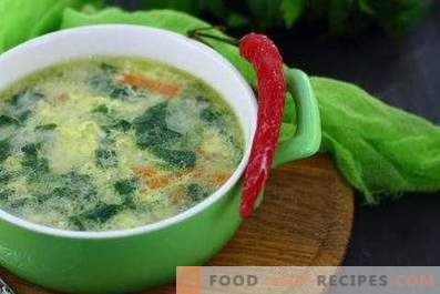Spinach-Egg Soup