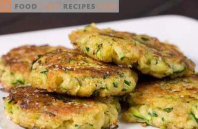 Zucchini Fritters with Cheese and Garlic
