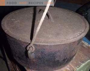 How to clean a cauldron from carbon