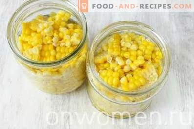Canned corn for the winter